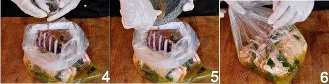 Costolette d agnello marinate con ortaggi grigliati