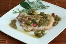 Nodini di maiale alle olive