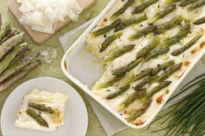 Ricetta Lasagne asparagi e raspadura