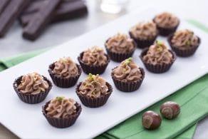 Ricetta Cioccolatini al fondente con crema di mascarpone