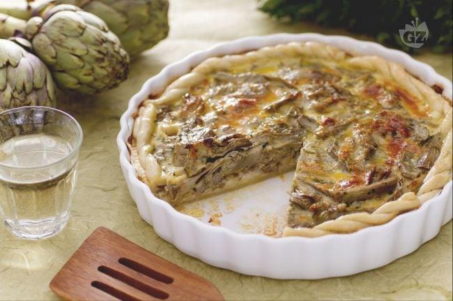Torta salata ai carciofi