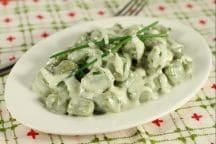 Gnocchetti di spinaci in salsa di taleggio
