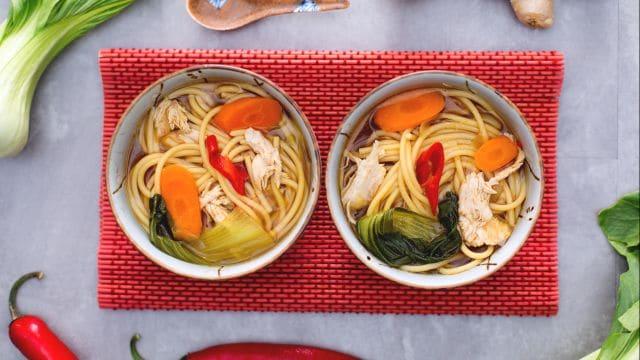 Vermicelli in zuppa orientale