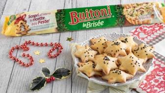 Stelle di pasta brisèe con formaggio e speck, antipasto facile di Natale
