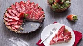 Crostata con curd di fragole