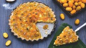 Crostata con kumquat caramellati
