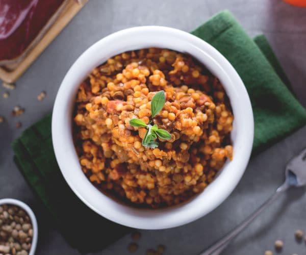 Fregola con lenticchie