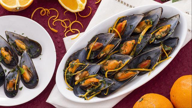 Ricetta Cozze all'arancia e zenzero