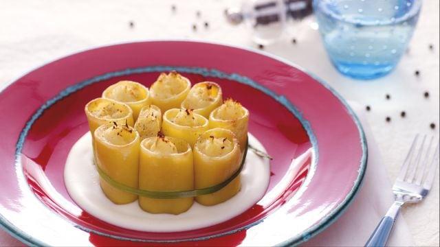 Paccheri ripieni di baccalà e formaggio