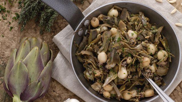 Ricetta Seppioline con carciofi