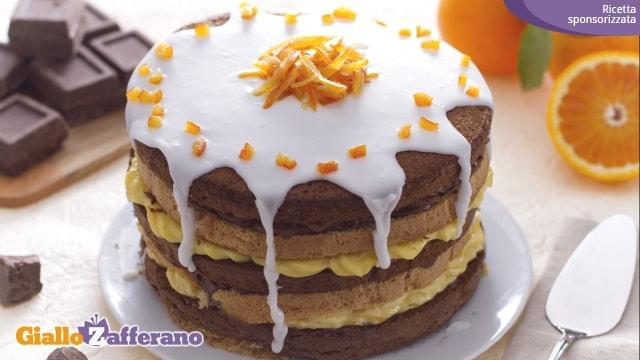 Torta doppia cioccolato e arancia