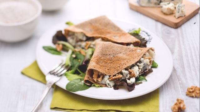 Ricetta Crepes roquefort e noci