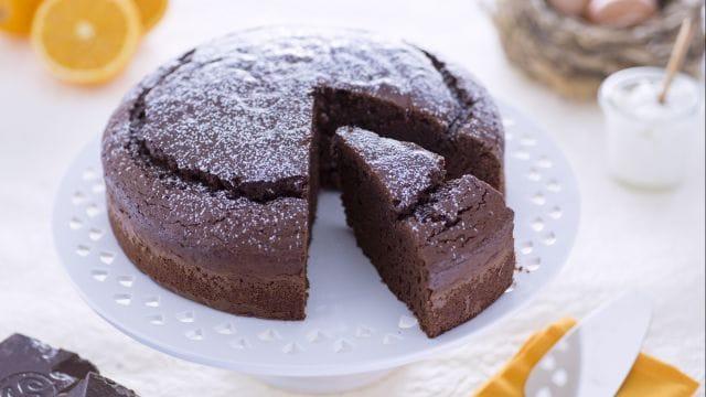 Torta di yogurt al cioccolato