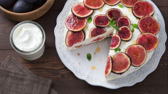 Cheesecake allo yogurt, fichi e miele