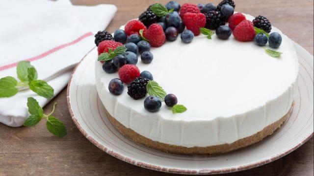 Torta fredda allo yogurt