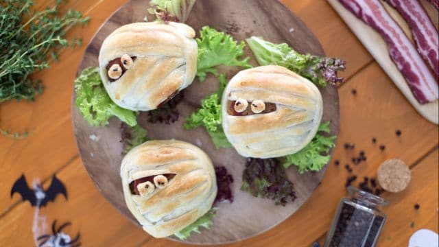 Mummie hamburger