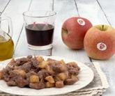 Straccetti di carne alle mele