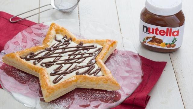 Stella di sfoglia, <br>crema di mascarpone, ricotta e Nutella®