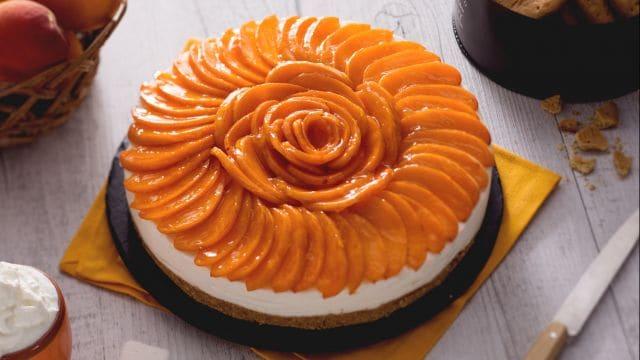 Torta fredda alle albicocche
